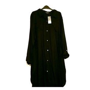 Tall Black Dorothy Perkins shirt dress nice linen
